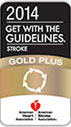 2014 Get With The Guidelines-Stroke Gold Plus Quality Achievement Award badge