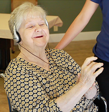 Ruth Roenspie was one of more than 4,000 residents in long-term care facilities in California who used the Music & Memory program.
