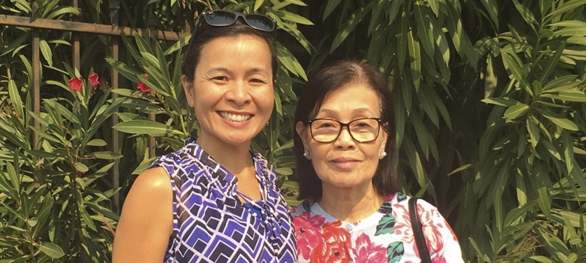 Oanh Meyer and her mother, Anh Le