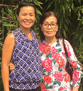 Oanh Meyer and her mom, Anh Le