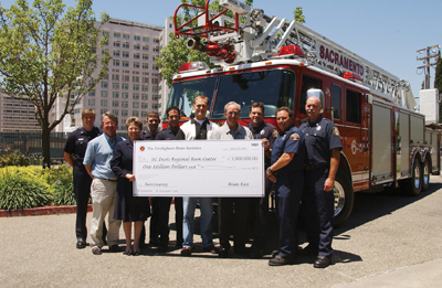 Firefighters Burn Institute present a $1 million check