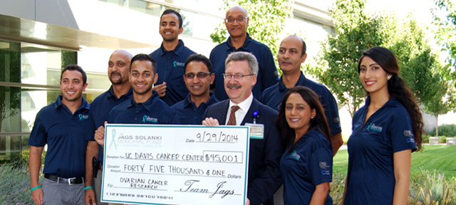 Solanki family makes another gift to support UC Davis ovarian cancer research