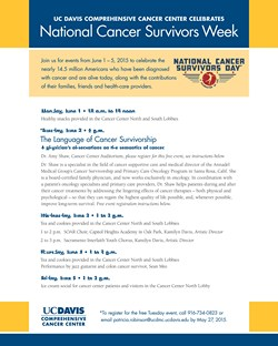 VIEW National Cancer Surviviors Day flyer