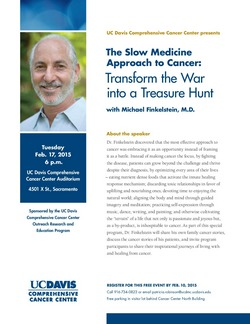 Michael Finkelstein lecture - DOWNLOAD FLYER