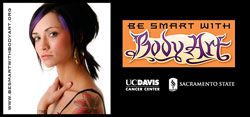 Be Smart with Body Art campaign