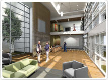 Cancer Center expansion - artist's rendering of interior