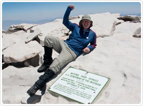 John Gallagher conquers Mt. Whitney in Sequoia National Park