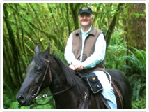 Michael Mahaffey with his horse, Pilot