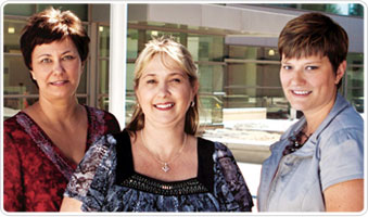Marnie Livingstone, Tammy Welden and Abbey Degraffenreid © UC Regents