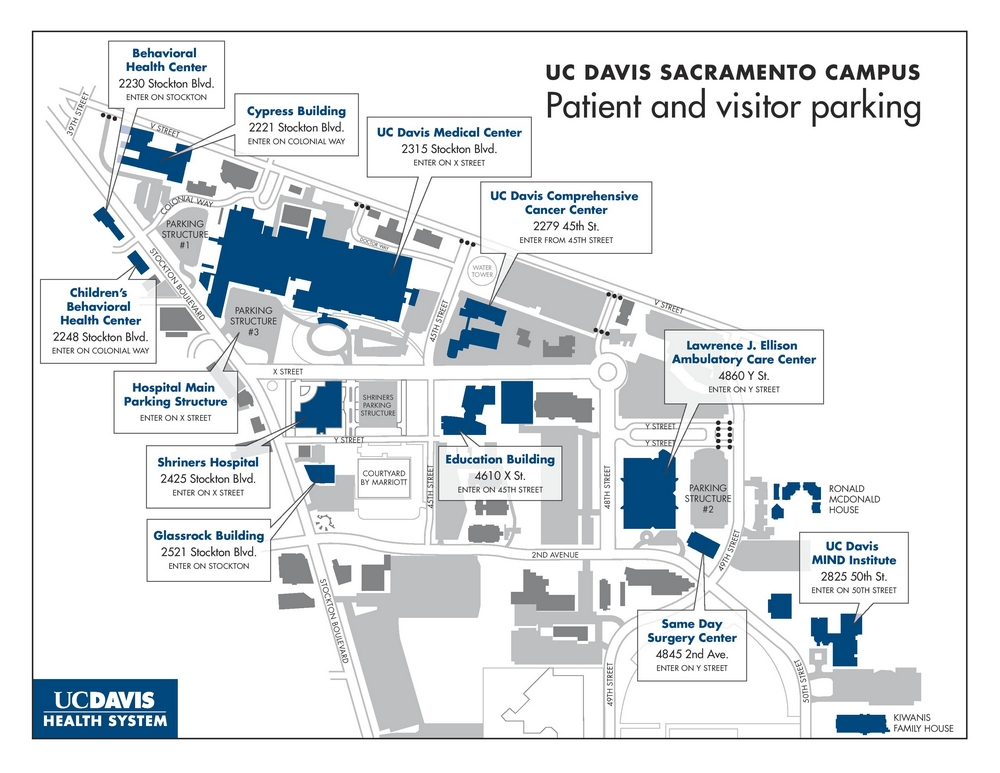 Sacramento campus map - CLICK TO ENLARGE
