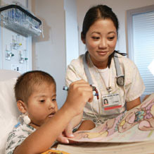 nurse with young patient