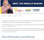 Meet the Miracle Makers blog, UC Davis Children's Hospital