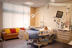 larger patient rooms enhance family-centered care