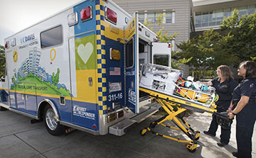 Children's Hospital ambulance