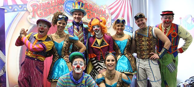 Ringling Bros. and Barnum & Bailey Circus visits UC Davis Children's Hospital