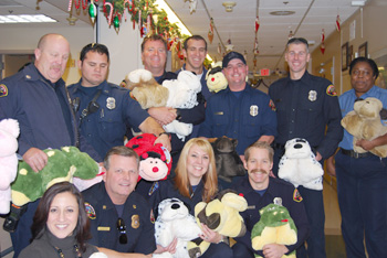 Sacramento Metropolitan Fire District toy donation © UC Regents