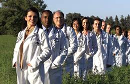 line of UC Davis doctors