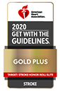 2020 Get With The Guidelines-Stroke Gold Plus Quality Achievement Award badge
