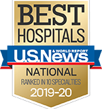 US News Best Hospitals 2019-2020 national badge