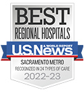 A U.S. News high-performing hospital in heart bypass surgery, heart failure, lung cancer surgery, colon cancer surgery, knee replacement, gastroenterology & GI surgery, diabetes & endocrinology, abdominal aortic aneurysm repair and COPD.
