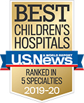 A U.S. News & World Report Best Children's Hospitals ranked in 5 specialties