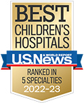 A U.S. News & World Report Best Children's Hospitals ranked in 4 specialties