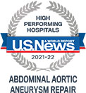 U.S. News & World Report High Performing Hospitals, Abdonomial Aortic Aneurism Repair © U.S. News