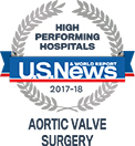 A U.S. News & World Report high performing hospitals, aortic valve surgery