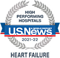 A U.S. News & World Report high performing hospitals, heart failure
