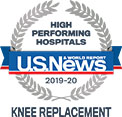A U.S. News high performing hospital in knee replacement