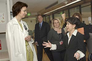 Photo of Dr. Palmieri and Rep. Matsui