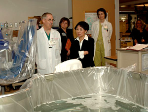 Photo of Dr. Greenhalgh and Rep. Matsui