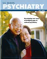UC Davis Psychiatry Magazine cover with Luke and Grace Kim