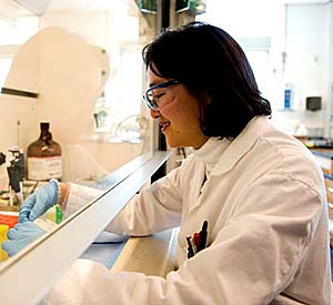 Researcher Julie Choi