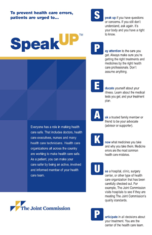 Speak UP poster