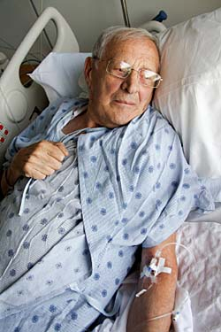 Elderly male patient