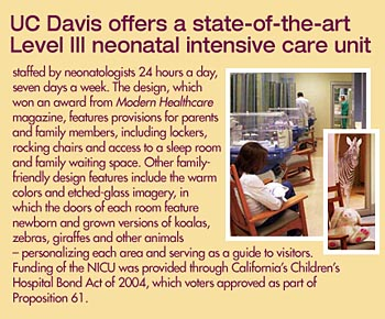 UC Davis neonatal intensive care unit sidebar © 2009 UC Regents
