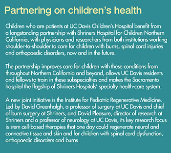 Graphic of Partnering on children's health © UC Regents