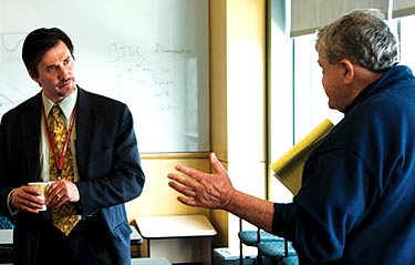 Photo of Dr. Murphy and Robert Wiltrout © UC Regents