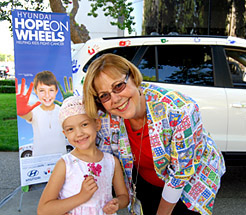 Patient Karly with nurse Martha Donaldson © 2009 UC Regents