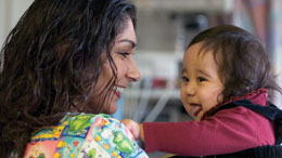 UC Davis Children's Hospital nurse with infant patient © UC Regents