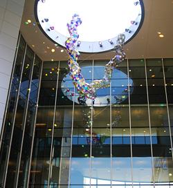 Soaring glass and steel sculpture installed: UC Davis Health