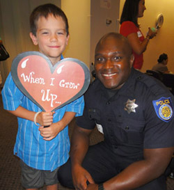 Boy would like to be policeman © UC Regents