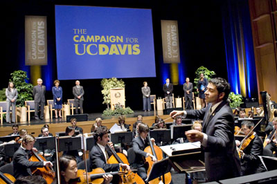 Campaign launch at the Mondavi Center © UC Regents