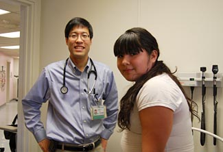 Dr. Pan and patient © UC Regents