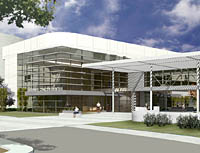 Cancer Center expansion rendering