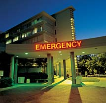 UC Davis Medical Center emergency room sign © UC Regents