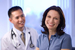 physician and female patient