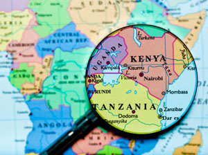 A map showing location of Kenya © iStockphoto.com