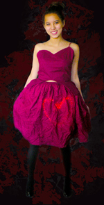 Nidia Trejo's red dress © 2012 UC Regents. Photo by Barbara Malloy.